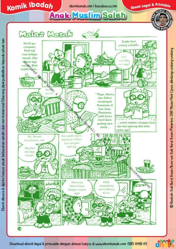 Komik Ibadah Anak Muslim Centil-Centil Cerdas, Malas Masak (19)