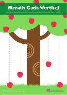 Menulis Garis Vertikal Buah Apel Jatuh dari Pohon (3)