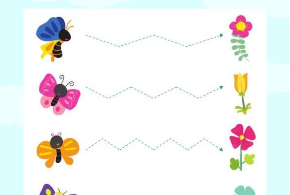 Menulis Garis Zigzag, Kupu-Kupu Mencari Nektar Bunga (9)