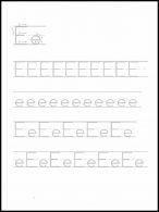 Menulis dan Menebalkan Huruf Ee