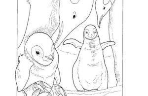 Mewarnai Gambar Keluarga Penguin