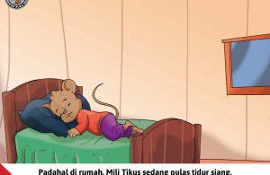 Moli Tikus Lupa Waktu, Mili Tikus sedang Tidur Siang (13)