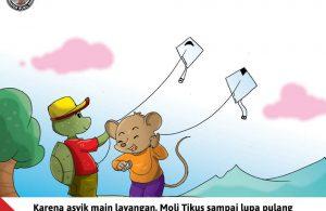 Moli Tikus Lupa Waktu, Moli Tikus Asyik Main Layangan (15)