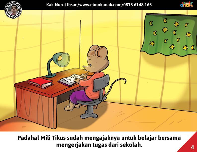 Moli Tikus Lupa Waktu, Moli Tikus Lupa Mengerjakan Tugas Sekolah (4)