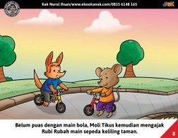 Moli Tikus Lupa Waktu, Moli Tikus Main Sepeda (8)