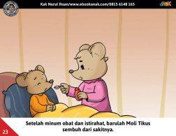 Moli Tikus Lupa Waktu, Moli Tikus Minum Obat (23)