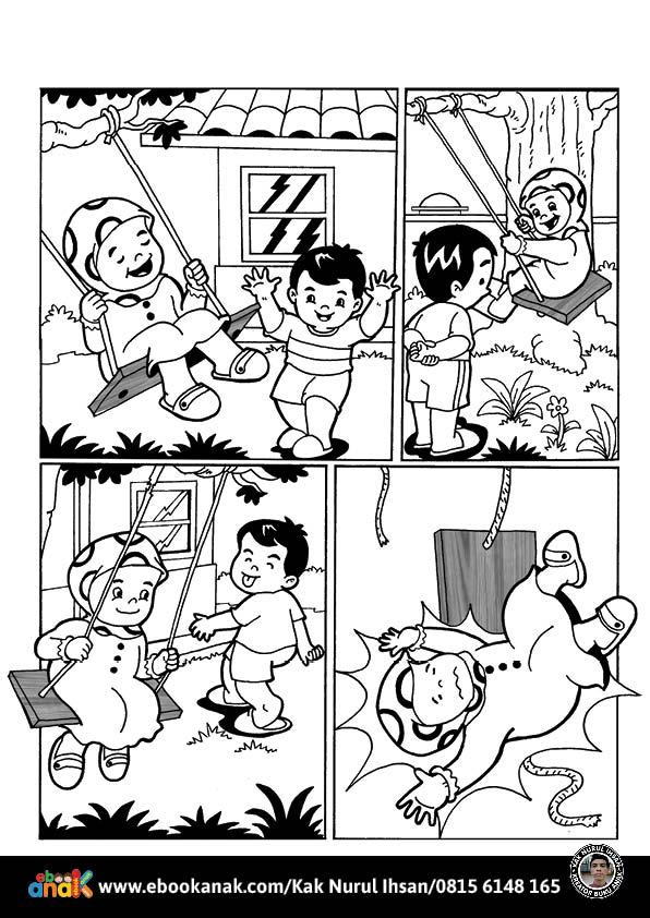 Pintar Mewarnai dan Menulis Cerita Komik Anak Muslim, Tidak Berselisih dengan Saudara