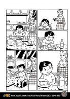 Pintar Mewarnai dan Menulis Cerita Komik Anak muslim, Makan Secukupnya Jangan Berlebihan