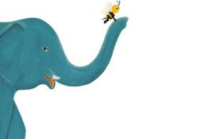 gajah membantu lebah kecil mencari rumahnya
