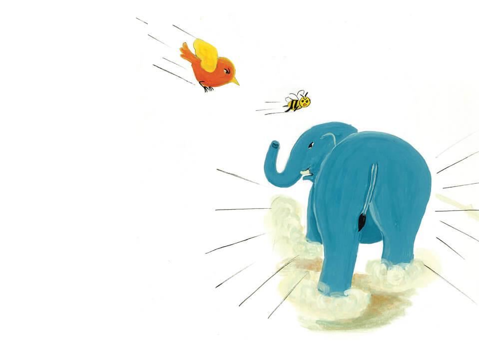 gajah kecil tersesat