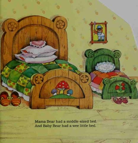 Tempat Tidur Ibu Beruang dan Anak Beruang
