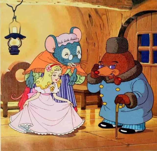 Thumbelina Berkenalan dengan Tuan Mole, Tikus Ladang Kaya