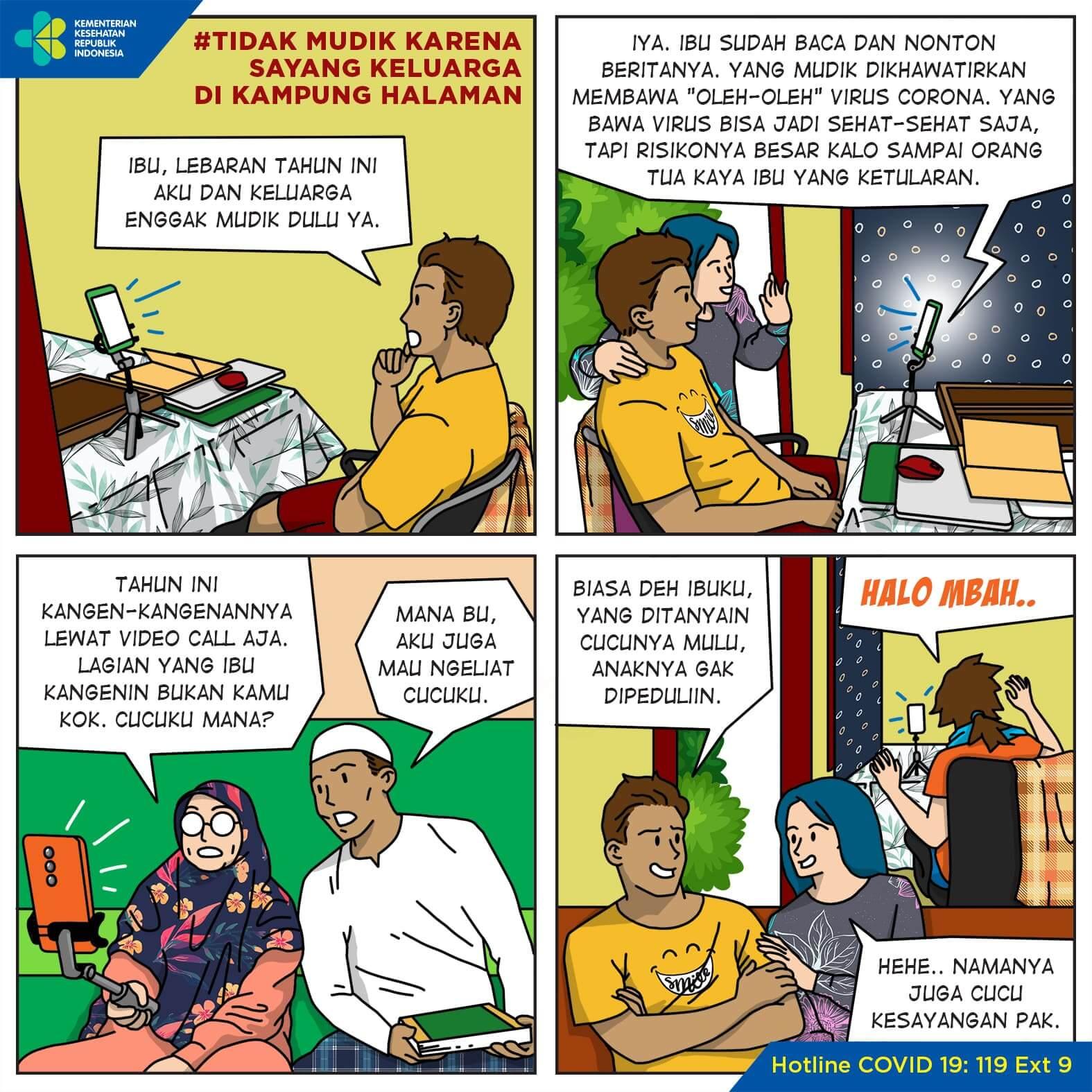 Tidak Mudik Karena Sayang Keluarga di Kampung Halaman
