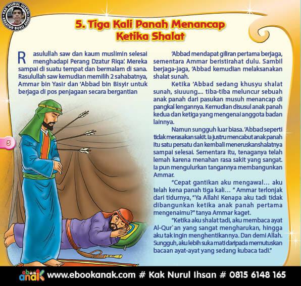 Tiga Kali Panah Menancap ketika Shalat (5)