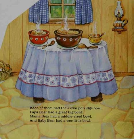 Tiga Mangkuk Bubur Keluarga Beruang