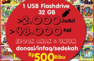 USB Flashdrive isi 2000 ebook anak donasi 500 ribu