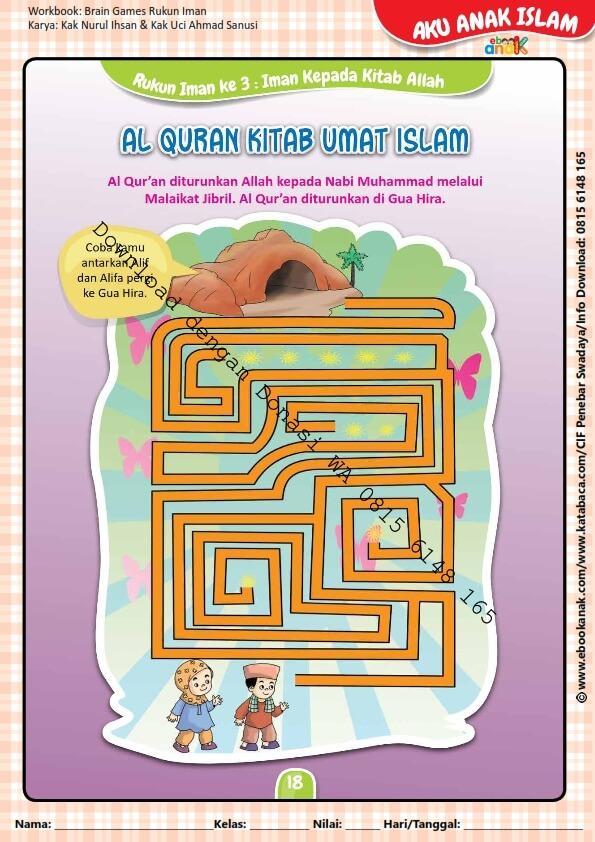 Workbook Brain Games Rukun Iman, Al Quran Kitab Umat Islam (19)