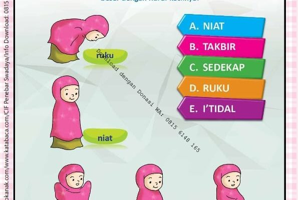 Workbook Brain Games Rukun Islam, Nama-Nama Gerakan Shalat (14)