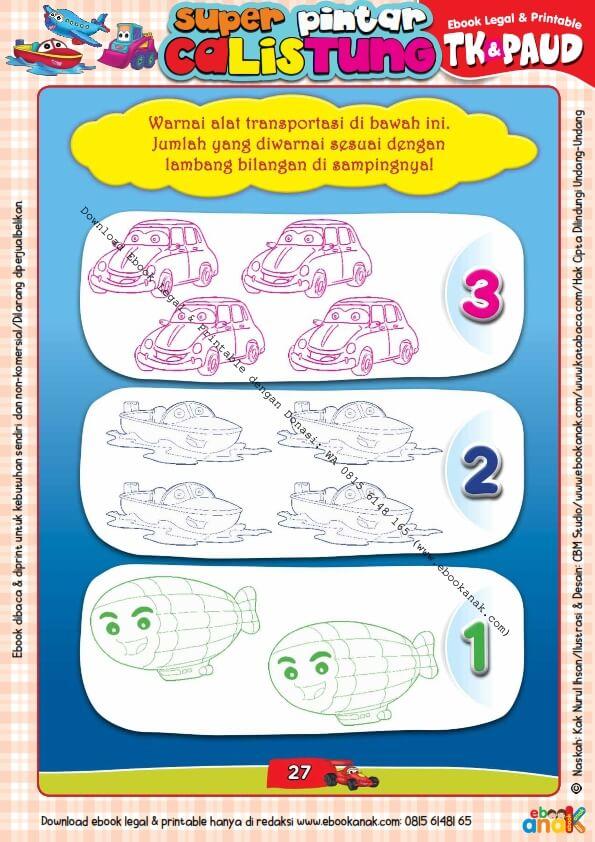 Workbook Legal dan Printable Super Pintar Calistung Transportasi (27)