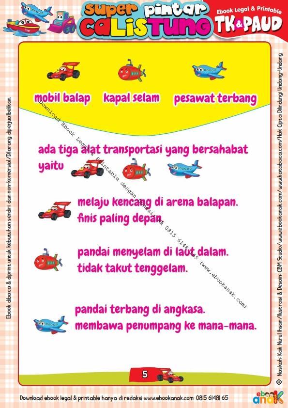 Workbook Legal dan Printable Super Pintar Calistung Transportasi (5)