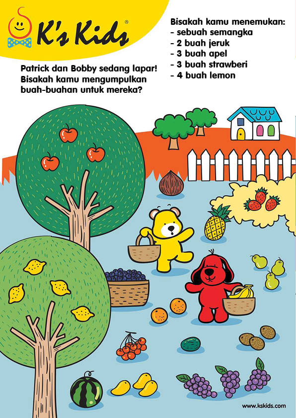 Worksheet Mencari Buah-buahan di Kebun (9)