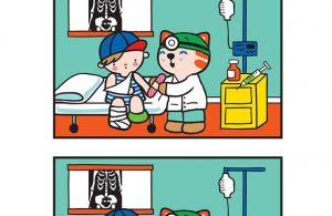 Worksheet Mencari Perbedaan Gambar Dokter dan Pasien 11
