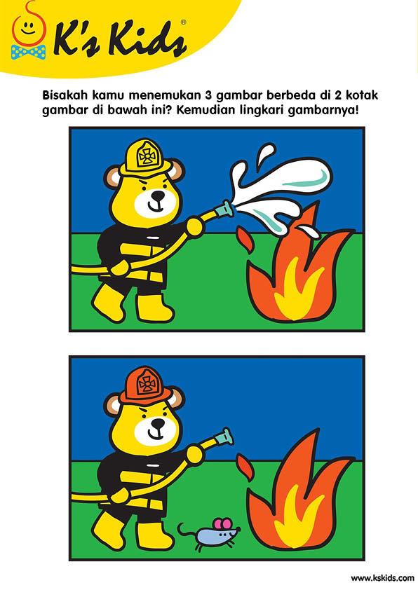 Worksheet Mencari Perbedaan Gambar Petugas Pemadam Kebakaran 8