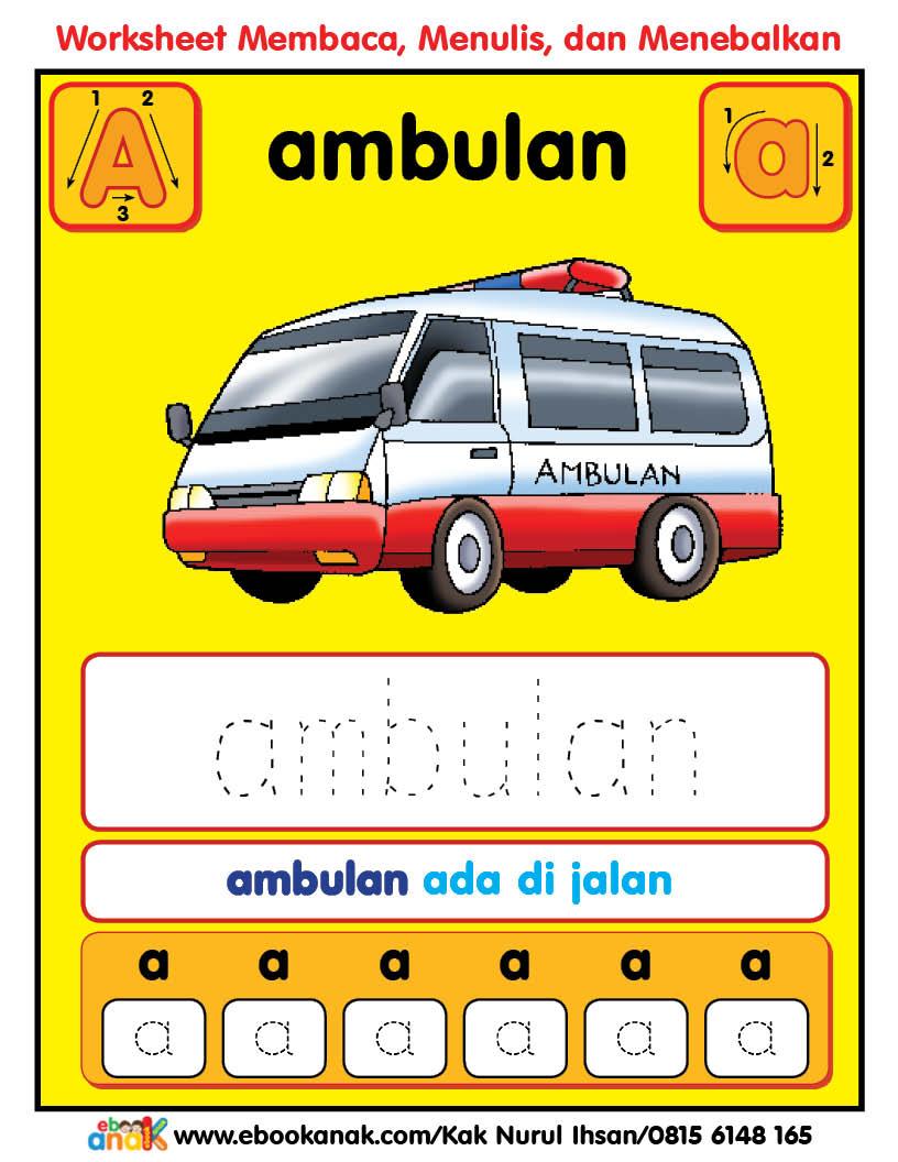 Worksheets Alphabet Aa Ayam