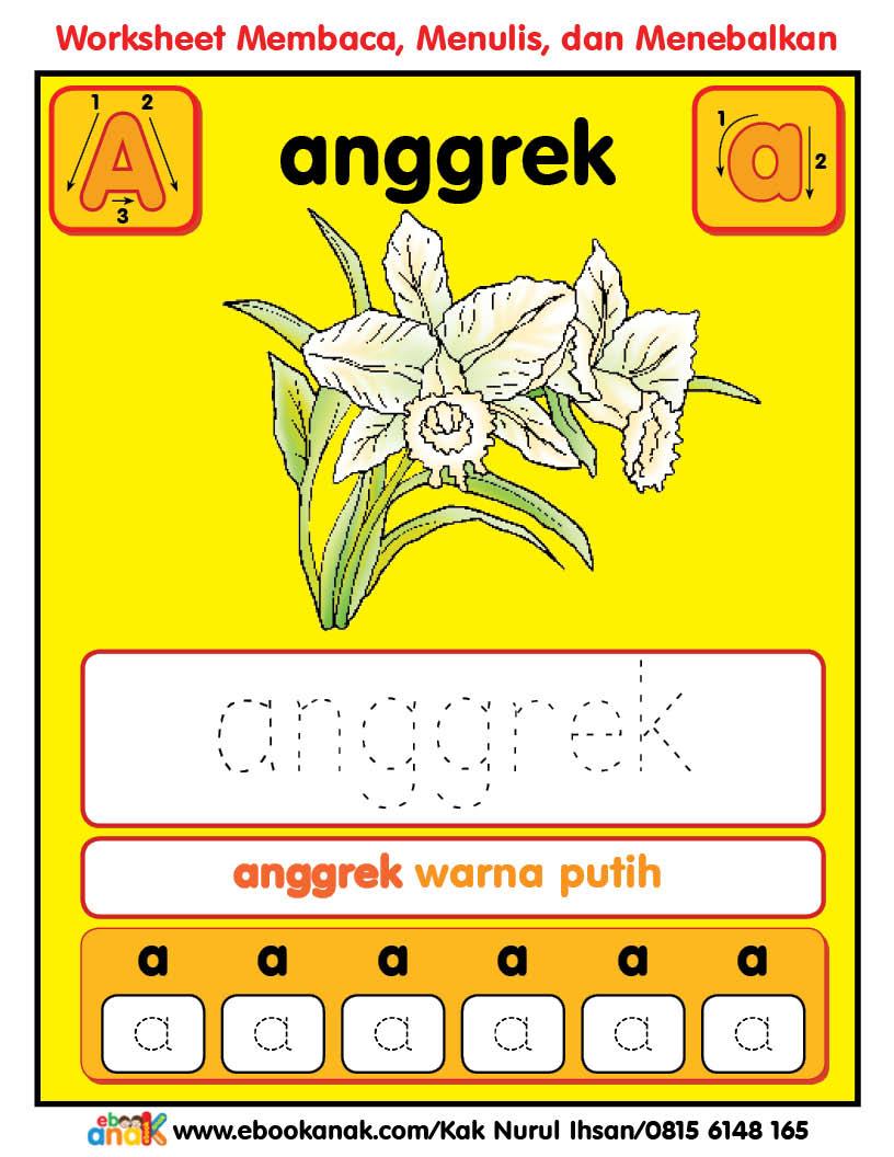 Worksheets Alphabet Aa Anggrek