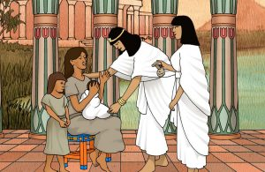 Yokhebed Diizinkan Menyusui Putranya, Musa di Istana Firaun