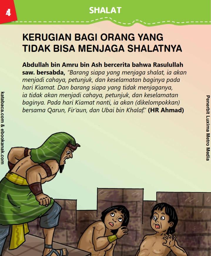baca buku anak islam online, fikih islam jilid 4_008 Kerugian Bagi Orang yang Tidak Bisa Menjaga Shalatnya