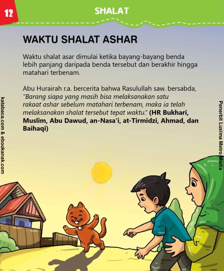 Waktu Shalat Ashar
