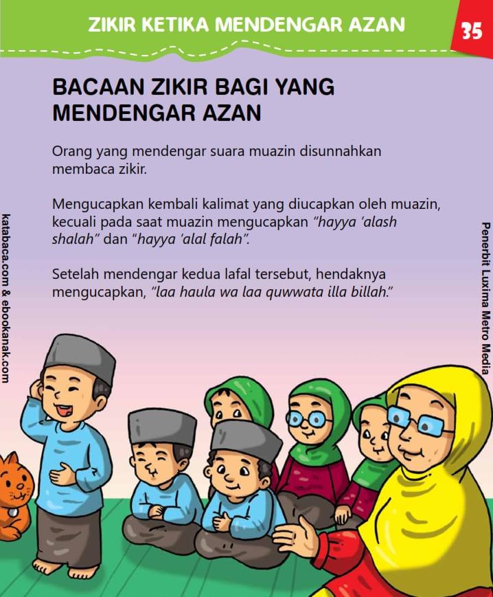 Bacaan Zikir Bagi yang Mendengar Azan