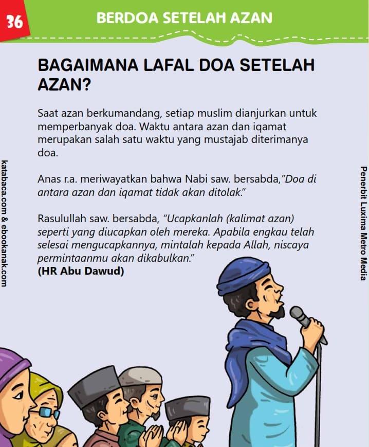 Lafal Doa Setelah Azan