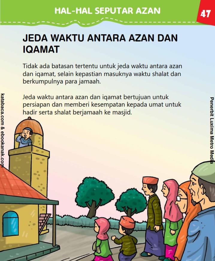Jeda Waktu antara Azan dan Iqamat