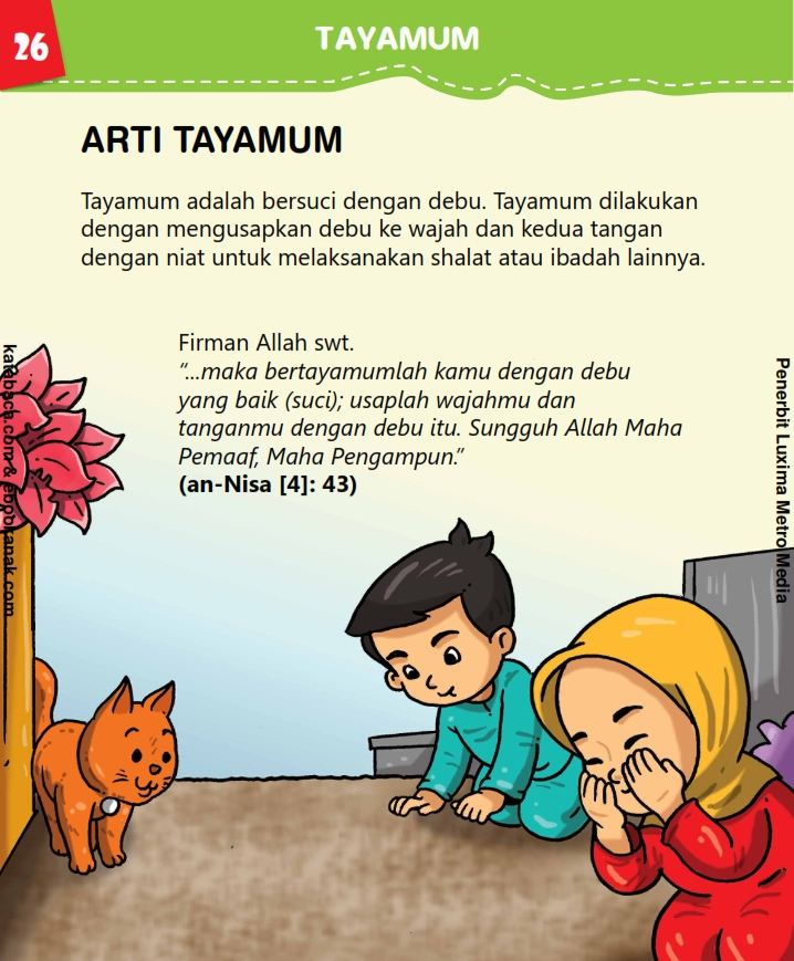 baca buku anak online, fikih islam jilid 3_030 Apa Tayamum Sama dengan Wudhu