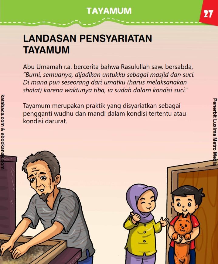 baca buku anak online, fikih islam jilid 3_031 Apakah Tayamum Bisa Mengganti Mandi