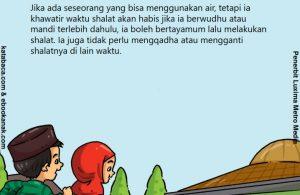 baca buku anak online, fikih islam jilid 3_040 Tayamum Karena Ada Air, Tapi Takut Ketinggalan Shalat