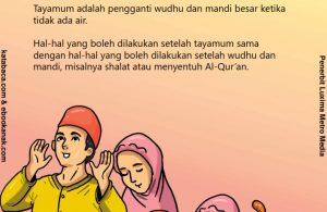 baca buku anak online, fikih islam jilid 3_044 Ibadah yang Boleh Dilakukan Setelah Tayamum