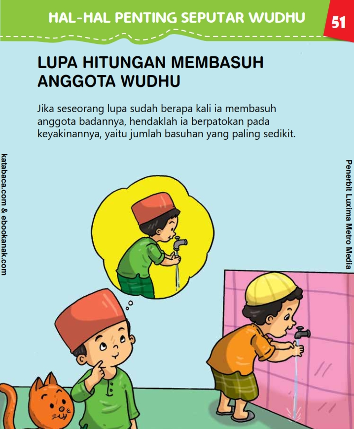 baca buku anak online, fiqih islam jilid 2_055 Bagaimana Jika Lupa Hitungan Saat Membasuh Anggota Wudhu