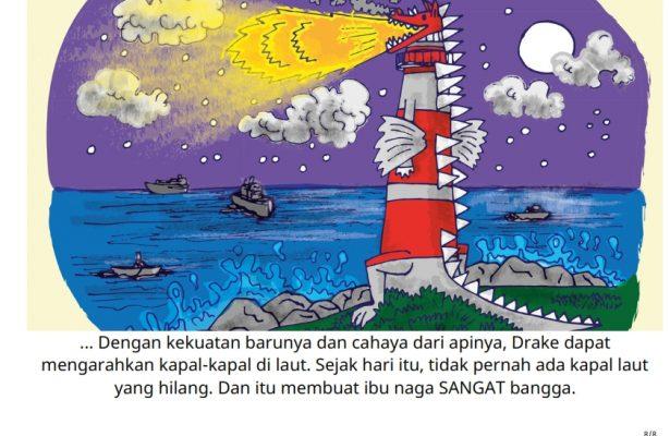 baca buku cerita online-drake si naga ajaib_008 Drake Si Naga Mengarahkan Kapal-Kapal di Laut