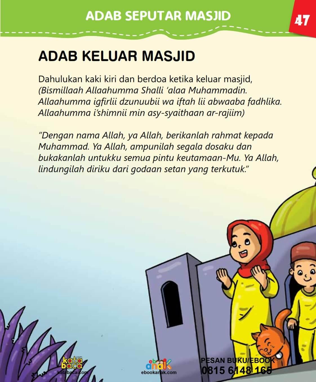 Inilah Adab Keluar Masjid