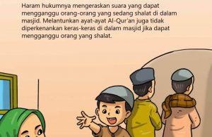 Hukum Mengeraskan Suara di dalam Masjid
