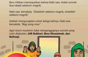 Shalat Sunnah Rawatib Dua Rakaat Sebelum Magrib