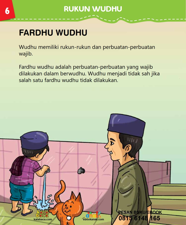 baca buku islam online, fiqih islam bergambar for kids jilid 02_010 Bagaimana Cara Menjaga Wudhu Tetap Sah