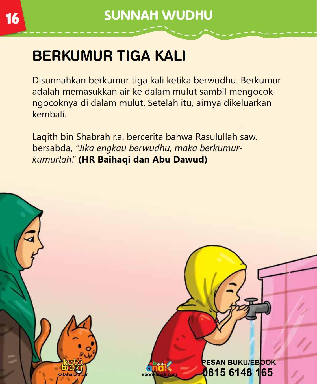 baca buku islam online, fiqih islam bergambar for kids jilid 02_020 Bagaimana Hukum Berkumur-Kumur Ketika Berwudhu