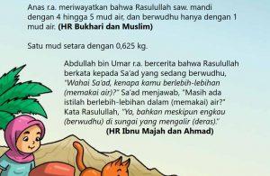 baca buku islam online, fiqih islam bergambar for kids jilid 02_030 Nabi Menghemat Air Ketika Berwudhu