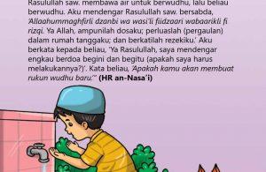 baca buku islam online, fiqih islam bergambar for kids jilid 02_031 Inilah Doa Nabi Saat Berwudhu