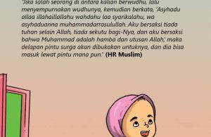 baca buku islam online, fiqih islam bergambar for kids jilid 02_032 Inilah Doa Nabi Sesudah Berwudhu