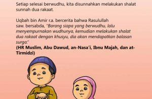 baca buku islam online, fiqih islam bergambar for kids jilid 02_033 Nabi Shalat Sunnah Dua Rakaat Setelah Wudhu